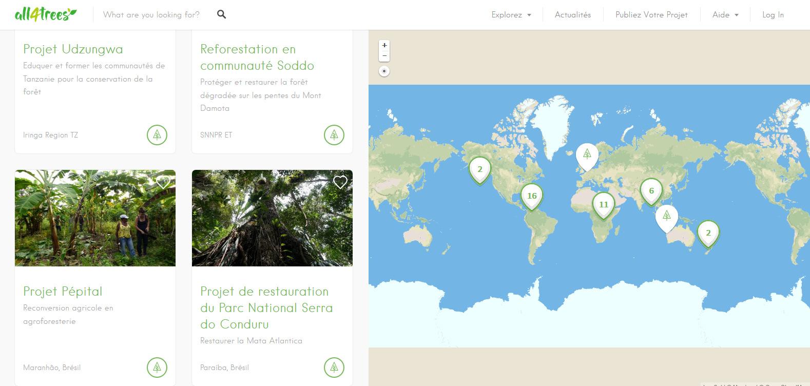 plateforme projets reforestation agroforesterie