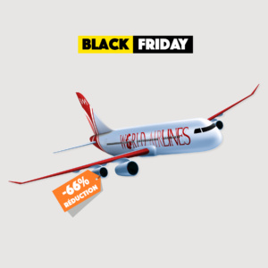 Black Friday billet avion